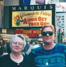 Mom and I on Broadway.